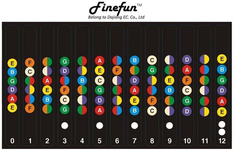 FineFun Guitar Fretboard Note Decals for Beginners
