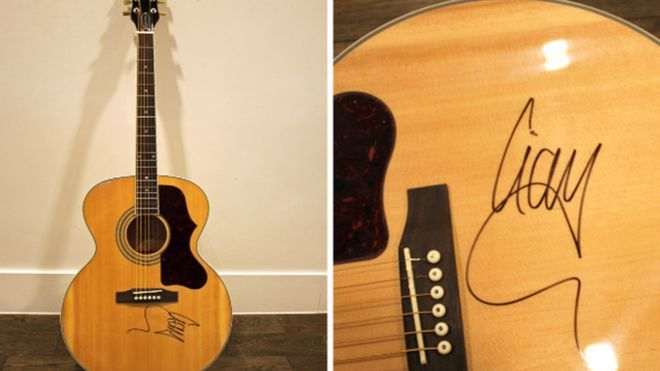 Blind Birmingham Woman's Liam Gallagher Guitar Stolen